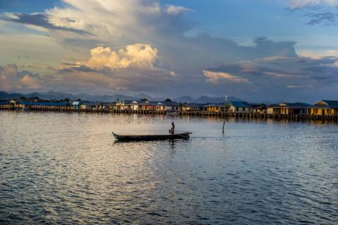 Living on the sea has become increasingly difficult in recent years, as the Bajau have over-fished their habitat.