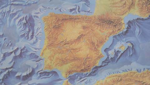 Mapa topográfico de España