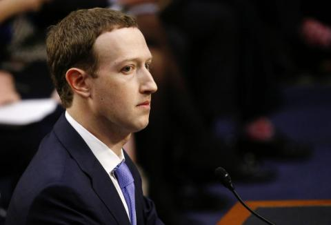 Mark Zuckerberg, CEO of Facebook, which has been under fire for its data collection and privacy practices.