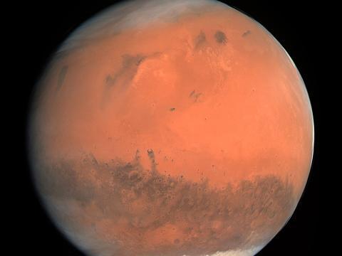 Marte capturado por la cámara Osiris de la sonda espacial Rosetta.
