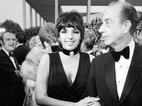 Liza and father Vincente Minnelli.