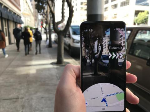 Use augmented reality to point you in the right direction.