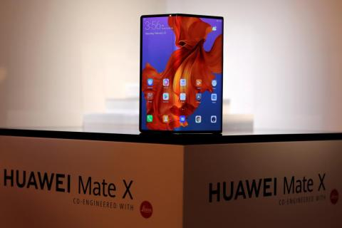 The new Huawei Mate X foldable smartphone.
