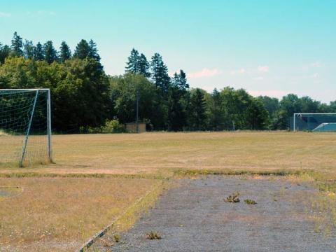 pista de futbol en la prisión de bastoy