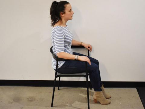 Proper posture while seated