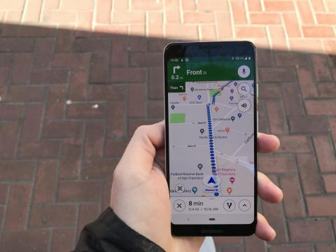 """The """"proper"""" way to use the feature is to walk with your phone down when you know you're on the right path. This will result in the standard Maps view."""