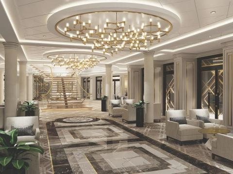 The rest of the Seven Seas Splendor will also be luxurious.