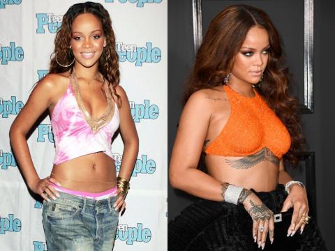 Rihanna, antes y ahora.