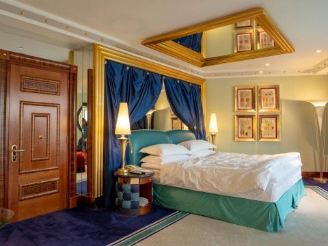 """Una habitación en el Burj Al Arab, el """"primer hotel de siete estrellas"""" del mundo."""