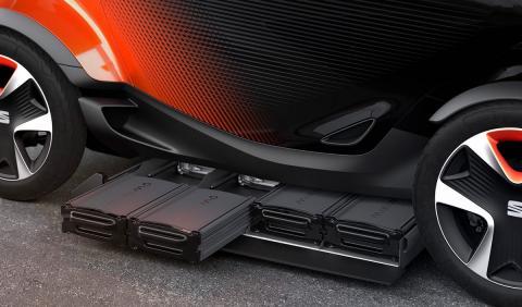 El Seat Minimó cuenta con baterías extraíbles para facilitar la vida de las empresas de car-sharing