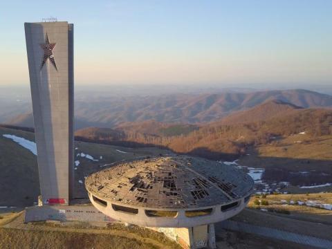 Buzludzha Monument decaying.