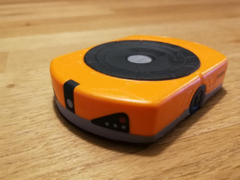 Un robot de juguete de Amazon, que se puede comprar con la moneda 'swag bucks'.