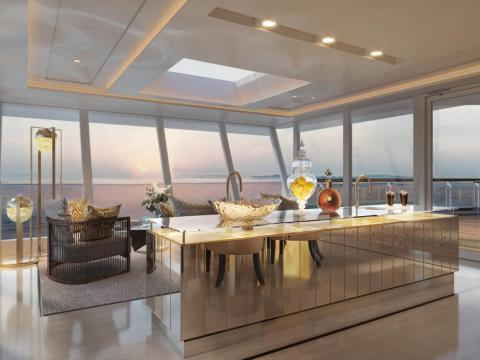 The suite will also come with a personal butler who can make drinks and arrange for on-shore transportation in a private car.