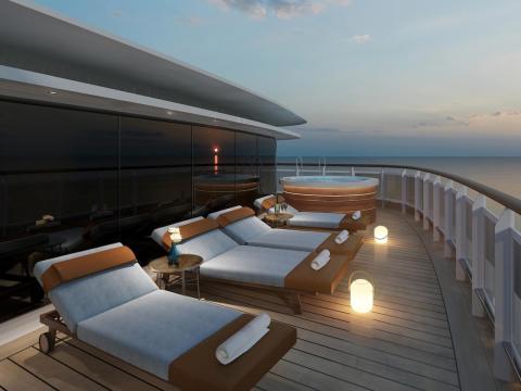 The suite will also have a 1,300 square-foot veranda.