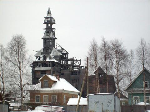 The Sutyagin House is often considered one of the tallest wooden houses in the world.