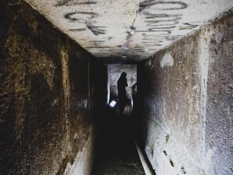There's not much to see inside any of the pyramids, just narrow passageways and empty rooms. Grave robbers, explorers, and museum officials have long since taken anything of interest out of the tomb.