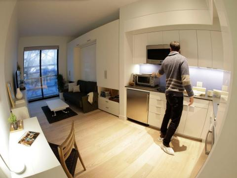 The units range from 260 to 360 square feet. For comparison, the average size of an apartment in Manhattan is 702 square feet.