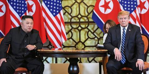 Kim Jong-Un y Donald Trump en Hanoi en la cumbre de Hanoi en febrero de 2019