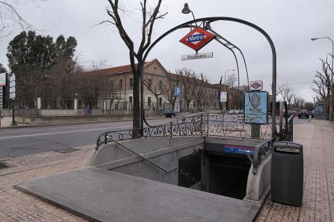 Boca de metro en Vicálvaro (Madrid)
