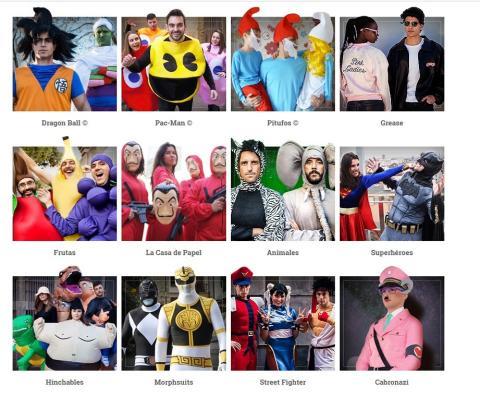 Página web disfraces Funidelia