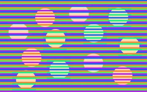 La mayoría de la gente ve cuatro colores de círculo diferentes.