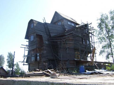 Sutyagin House after most of it was destroyed in 2009.