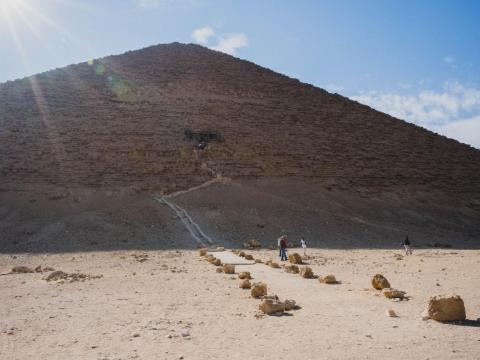 While visiting the pyramids of Egypt is as mind-blowing as you might expect, actually going inside the pyramids is a different story. I decided to go inside the Red Pyramid, so named for its red limestone blocks. It's the third