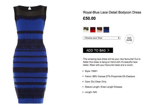 Vestido ajustado con detalle de encaje de Roman Originals en azul real (58 dólares).