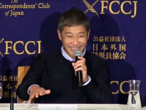 Yusaku Maezawa, será el primer turista espacial en viajar alrededor de la luna con SpaceX.