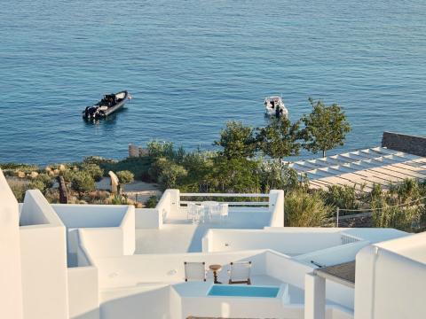 Desde las terrazas se ve perfectamente el mar.