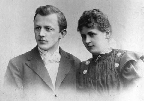 Melitta junto a su marido Hugo Bentz.