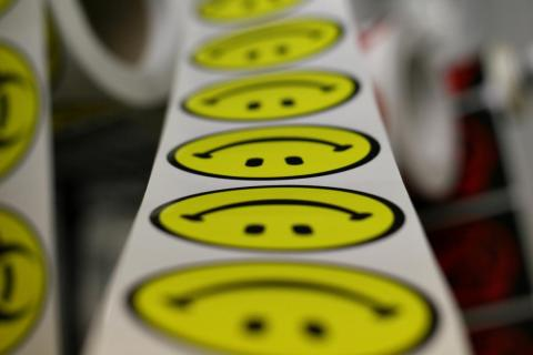 In 1963, Harvey Ball drew a smiley face outlined with a circle and filled with yellow for $45 to liven up buttons and badges. He never trademarked the design, though. Today, SmileyWorld owns the design, and makes over $250 million