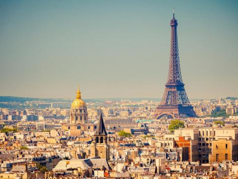 #2: Paris, France, is home to some of the best food in the world — and also the Eiffel Tower, the Arc de Triomphe, the Notre Dame, and of course the Moulin Rouge.