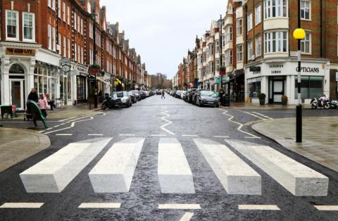 Pasos de cebra 3D en Londres