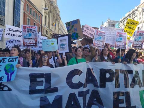 Huelga por el clima en Madrid