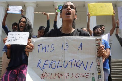 Huelga por el clima en Bombay
