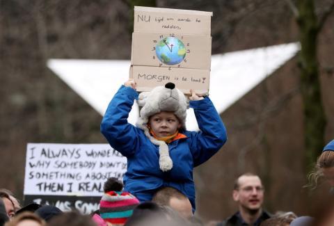 Huelga por el clima en Bruselas
