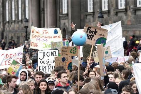 Huelga por el clima en Copenhague, Dinamarca