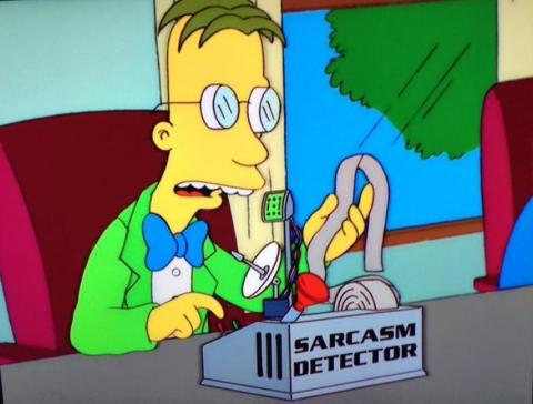 Detector de sarcasmos en Los Simpson