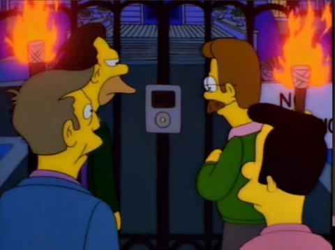 El iPod de Los Simpson