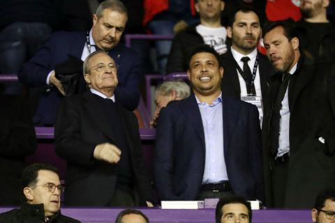 Florentino Pérez y Ronaldo Nazario, presidente del Real Valladolid.