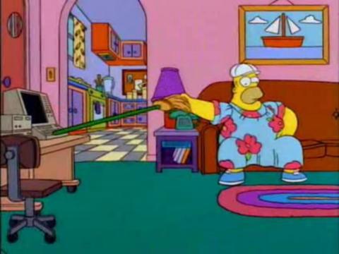 Homer Simpson, precursor del teletrabajo