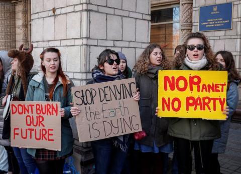 Huelga por el clima en Kiev