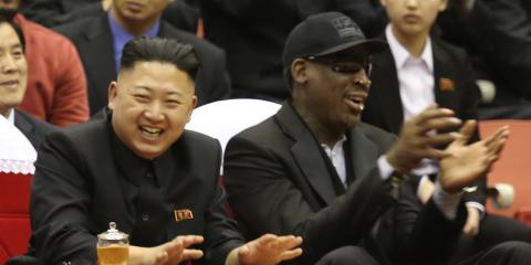 Kim Jong-Un, junto a Dennis Rodman.