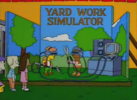 La granja virtual de Los Simpson.