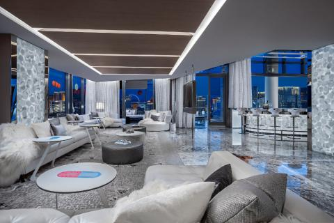Así es la habitación de hotel decorada por Damien Hirst, de las más caras del mundo
