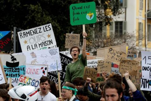 Huelga por el clima en Niza