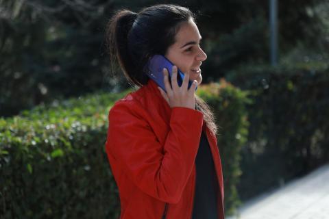 Redmi Note 7 llamando por telefono