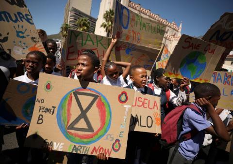 Huelga por el clima en Sudáfrica