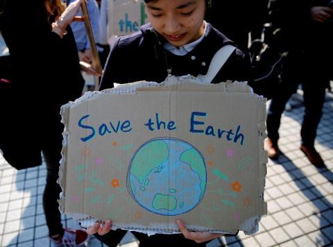 Huelga por el clima en Tokio